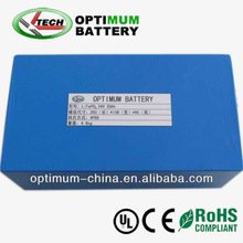 Rechargeable lifepo4 24v 20ah battery for electric bicycle