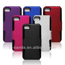 plastic outside silicon inner for blackberry case