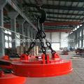 Eléctrico imán de elevación de la grúa para acero recortes