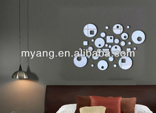 office&school mirror sticker/hotel mirror sticker/customed mirror sticker low price