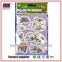 hot sell PVC Pop-up kids die cut sticker infantil