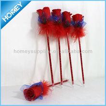 Novelty rose art pens for promotion