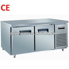table top fridge/restaurant prep tables/refrigerated table workable cooler