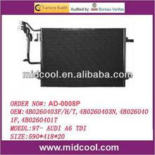 high quality auto a/c condenser for 97- AUDI A6 TDI