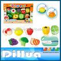 18 pièces jouets de fruits et légumes en plastique