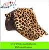 2013 fashion custom cotton fitted leopard baseball cap