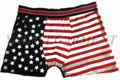 Sexy mens moda bonito flag-nos cueca boxer shorts