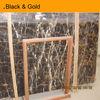 Imported black gold marble slab