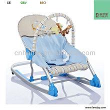 Blue kid's rocker,fabric rocker swivel reclining folding chair