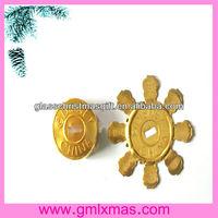 Charming Xmas christmas ball cap ,delicate ornament Xmas Glass Decorative Christmas Glass Ball With Aluminum Cap