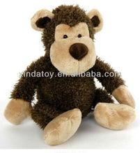 Barking brown plush monkey