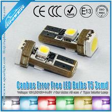 T5 5050 chip SMD LED Wedge Light Instrument Cluster, Dash Lights 37 73 74 79 etcw/ Built-in Load Resistors For European Cars
