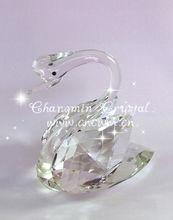 Transperant Crystal Swan Figurines for Wedding Return Gifts