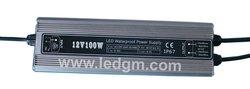 Waterproof IP67 100W LED power supply 12v 24v