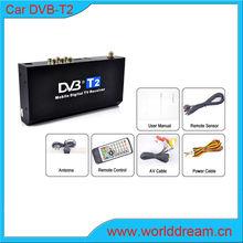 Best Seller DVB-T2 Car Tv turner Thailand AVC,MPEG4 H.264, Fully compliant ETSI EN 302 755 ( DVB-T2 ) /ETSIEN 302 Support PAL