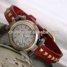 2015 Geneva Genuine Leather Retro Bracelet Wholesale Pretty Wrist Watch Shop