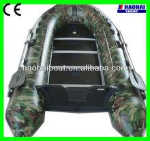 10.8ft(330cm)pvc plywood floor inflatable fishing cruising boat