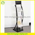 3 nivel del piso stand periódico de metal estante de exhibición