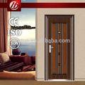 de aço blindada de madeira de entrada de aço porta de madeira barata banco aço segurança porta de preços