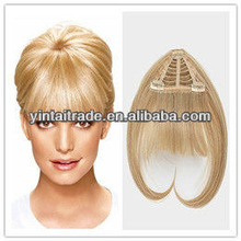 2013 new arrival cheap 100% natural real human hair pieces bangs with superior quality