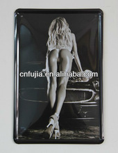 sexy lady customized license plate hot sale car decoration tin sign,car embossed printing metal sign