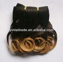 Brazilian hair extension two tone hair extension hot sell two color virgin brazilian hair extension