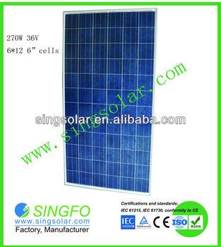 270W Chinese solar panels manufacturer /solar panel price India