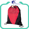 wellpromotion nylon Drawstring bag with Front zipper pocket