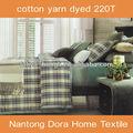 Fios 100% de algodão tingido elegante 4 pcs king size cama de linho
