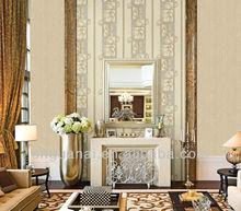 Italy design golden embossed decorative pvc wallpaper
