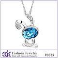 Fábrica directamente venta al por mayor de la joyería, Cristal de circón colgante de collar