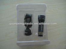plastic double blister packaging box for sport light,blister light box