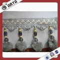Pom Pom decoração têxtil lar cortina franjas guarnição Handmade almofada de renda