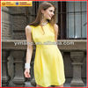 2013 wholesale clothes fashionable ladies yellow dresses for women