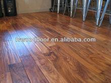 UV finished Acacia hand scraped solid wood flooring