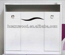 melamine board without back board shoe cabinet