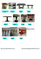 sólidos de madeira e mdf com folheado mesa de café 14