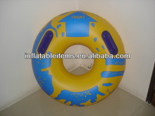 inflatable pvc floating tire with handle