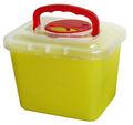 De plástico contenedor para objetos punzantes, médico disposición contenedores, sharp contenedor 0.8l