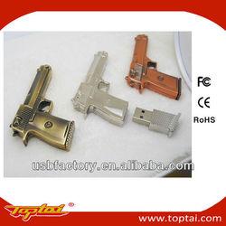 8gb metal gun usb flash memory drive
