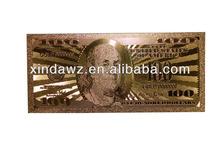 gold foil banknote set,banknote gift