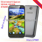 5.8 inch MTK6589 Quad Core Android 4.1 With Pen Smartphone S7589
