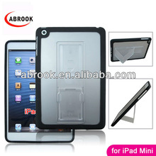Dual color hybrid stand combo hard belt clip case for ipad mini