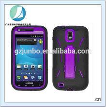 Black Purple Kickstand Hybrid Case Cover for Samsung Galaxy S2