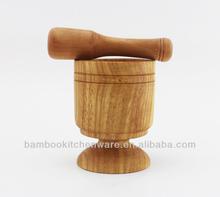 de bambú de ajo machacador