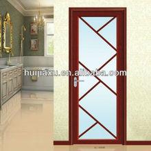 Promotion price of kitchen swing door with tempered glass aluminum casement glass door opening glass door