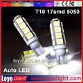 T10 17 smd bulbo conduzido automóvel, t10 bulbo 5050, auto levou carro de iluminação lâmpada 12v