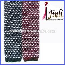 Classic black ties 100% silk knitted custom skinny tie