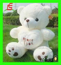 Giant white Big plush teddy bear with heart