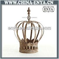 Metal decoration/decorative porcelain crown/Antique Metal